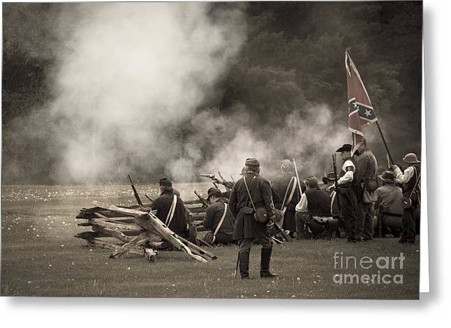 Confederate Flag Greeting Cards - Civil War 9 Greeting Card by Roger Bailey
