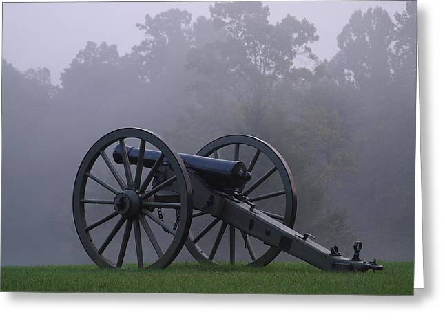 Re-enact Greeting Cards - Civil War Cannon 1 Greeting Card by John Brueske