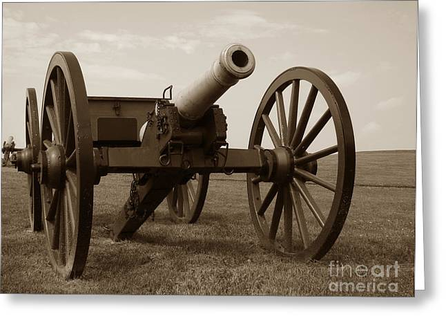 Confederate Greeting Cards - Civil War Cannon Greeting Card by Olivier Le Queinec