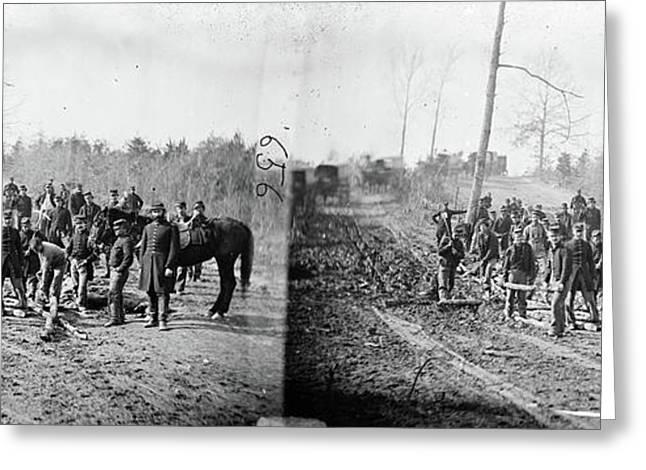 Civil War Corduroy Road Greeting Card by Granger