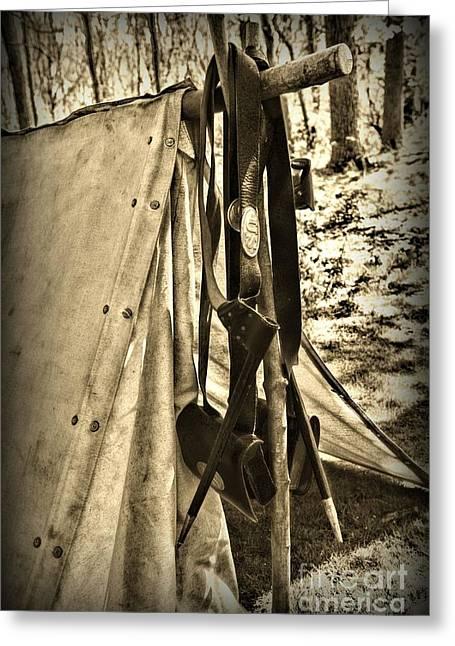 Bayonet Greeting Cards - Civil War  Duty Belt Greeting Card by Paul Ward