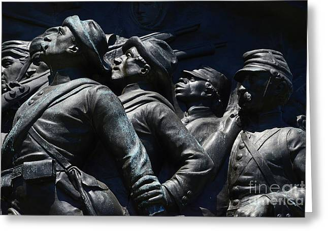 Statue Of Confederate Soldier Greeting Cards - Civil War Figures Greeting Card by Paul W Faust -  Impressions of Light