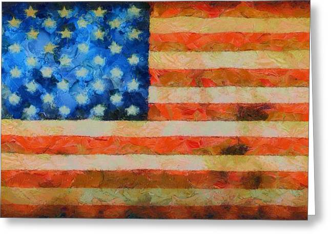 4th Of July Mixed Media Greeting Cards - Civil War Flag Greeting Card by Dan Sproul