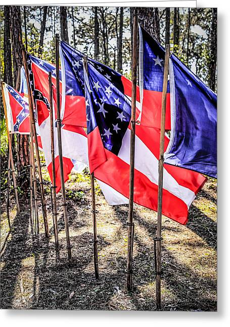 Confederate Flag Greeting Cards - Civil War Flags Greeting Card by Chris Smith