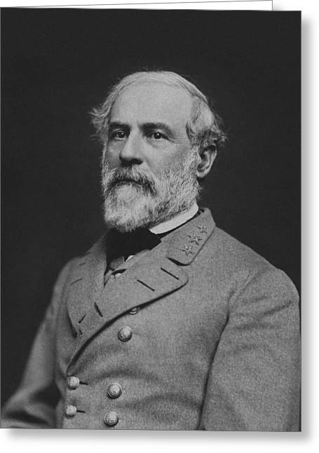 Confederate Greeting Cards - Civil War General Robert E Lee Greeting Card by War Is Hell Store