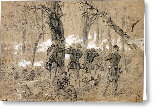 Civil War Glendale, 1862 Greeting Card by Granger