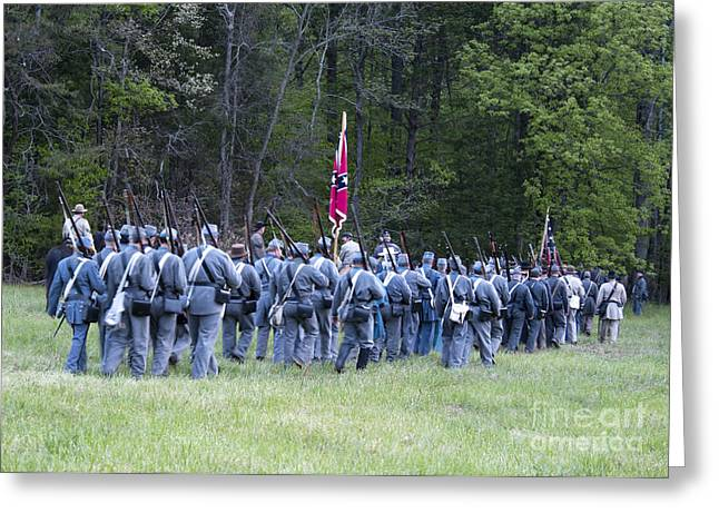 Confederate Flag Greeting Cards - Civil War March 150th  Greeting Card by Jonathan Whichard
