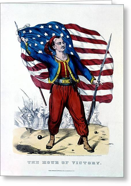 Fire Zouaves Greeting Cards - Civil War New York Zouave Greeting Card by Historic Image