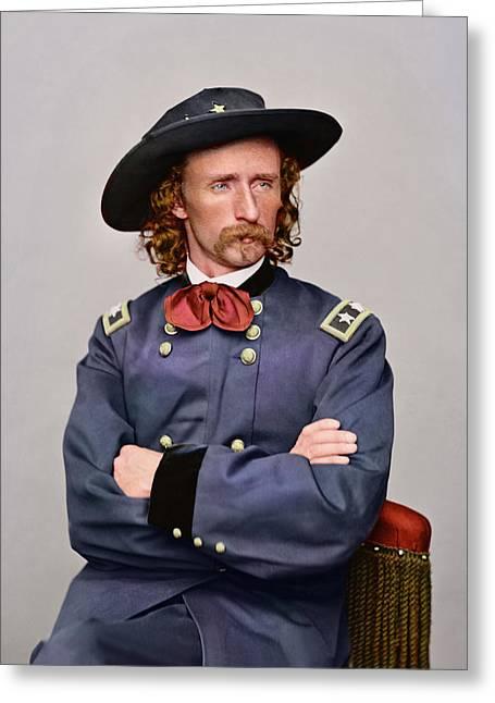 Civil War Portrait Of Major General Greeting Card by Stocktrek Images
