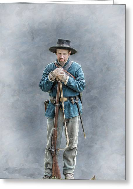 Battle Of Gettysburg Digital Art Greeting Cards - Civil War Soldier Co. F 78th PVI Greeting Card by Randy Steele