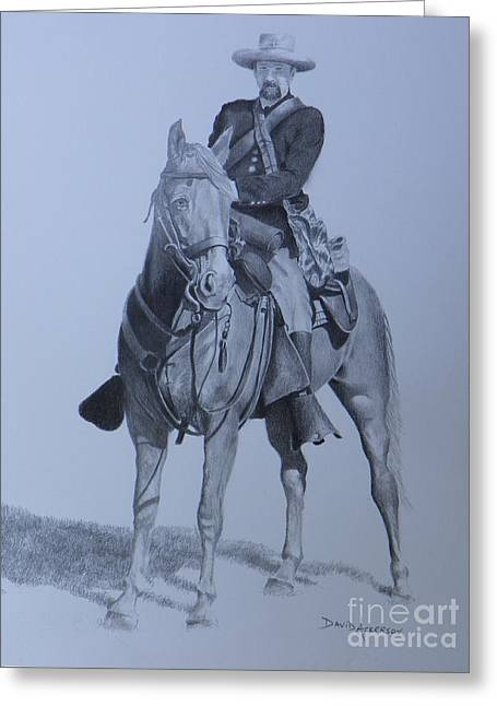Civil War Soldier  Greeting Card by David Ackerson