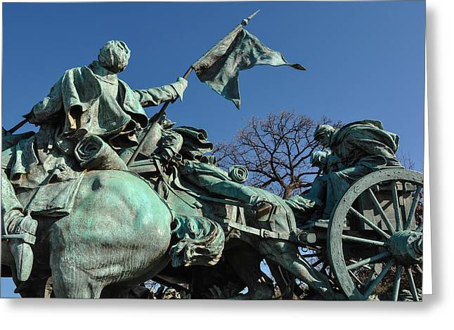 Black History Greeting Cards - Civil War Statue in Washington DC Greeting Card by Brandon Bourdages