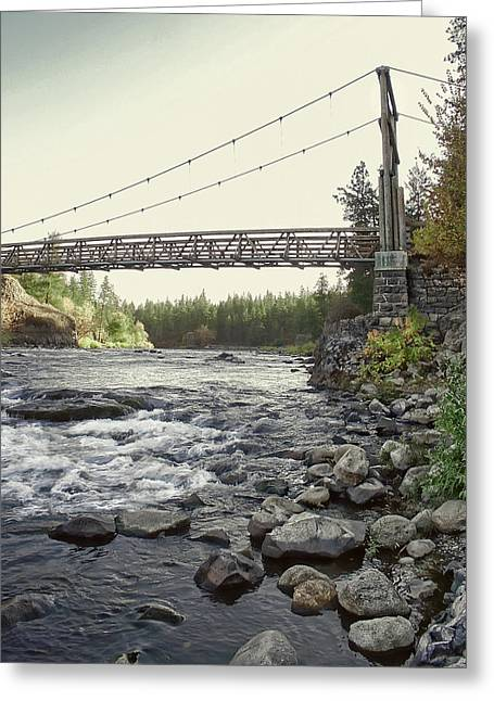 Civilians Greeting Cards - Civilian Conservation Corps Bridge - Spokane Washington Greeting Card by Daniel Hagerman