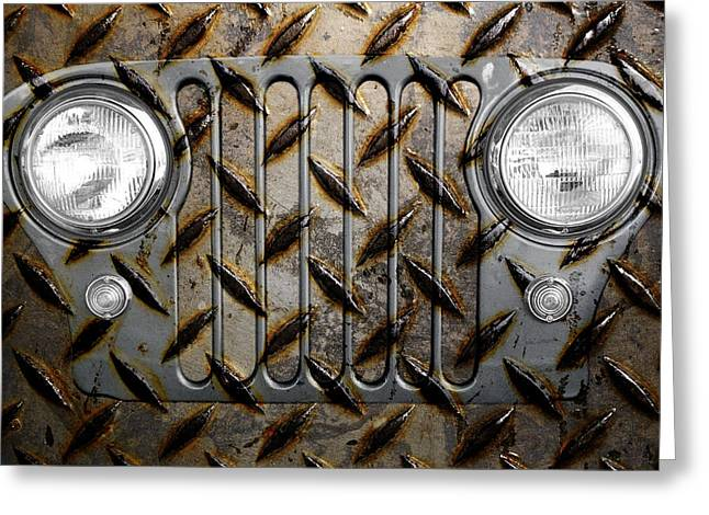 Civilians Greeting Cards - Civilian Jeep- Steel Gray Greeting Card by Luke Moore