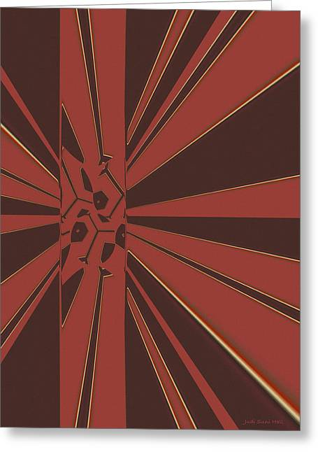 Algorithmic Abstract Greeting Cards - Civilities Greeting Card by Judi Suni Hall