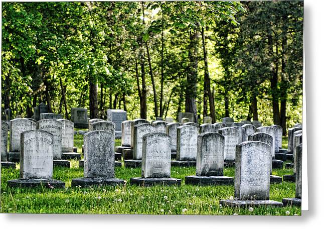 Civil War Site Photographs Greeting Cards - Civitl War Warrior Graves Greeting Card by Linda Phelps