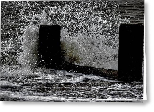 Water Splashes Greeting Cards - Clacton Seaside Greeting Card by Martin Newman