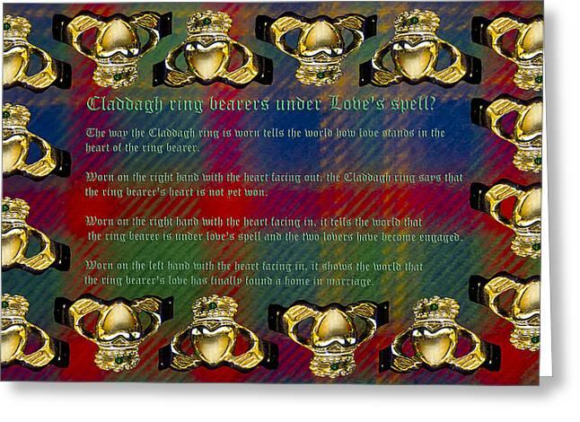 Relationship Status Greeting Cards - Claddagh Ring Story Greeting Card by LeeAnn McLaneGoetz McLaneGoetzStudioLLCcom