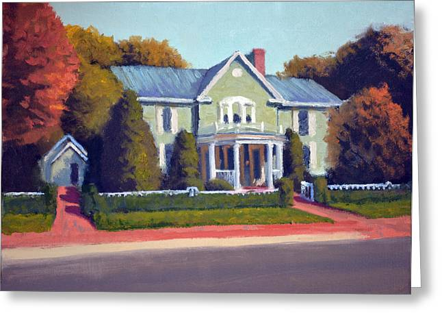 5 Star Greeting Cards - Claiborne House Autumn Greeting Card by Armand Cabrera