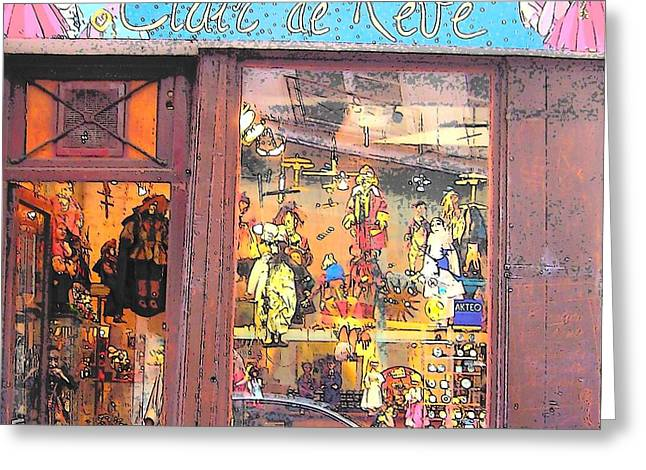 Toy Shop Greeting Cards - Clair de Reve Greeting Card by Jan Matson