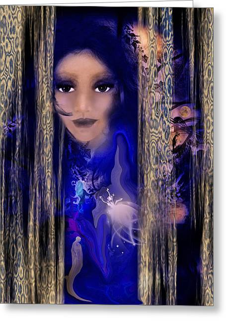 Cocoon Mixed Media Greeting Cards - Clairvoyant Seven Greeting Card by Patricia Motley