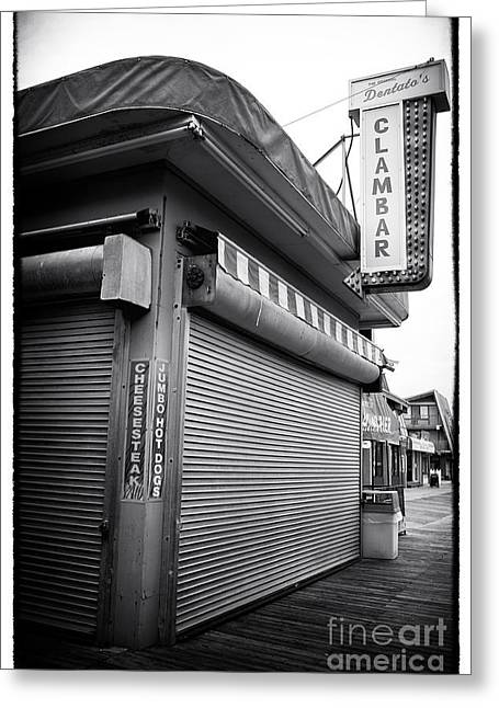 Seaside Heights Greeting Cards - Clam Bar Greeting Card by John Rizzuto