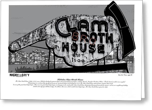 Houses Posters Greeting Cards - Clam Broth House Sign Greeting Card by Kenneth De Tore