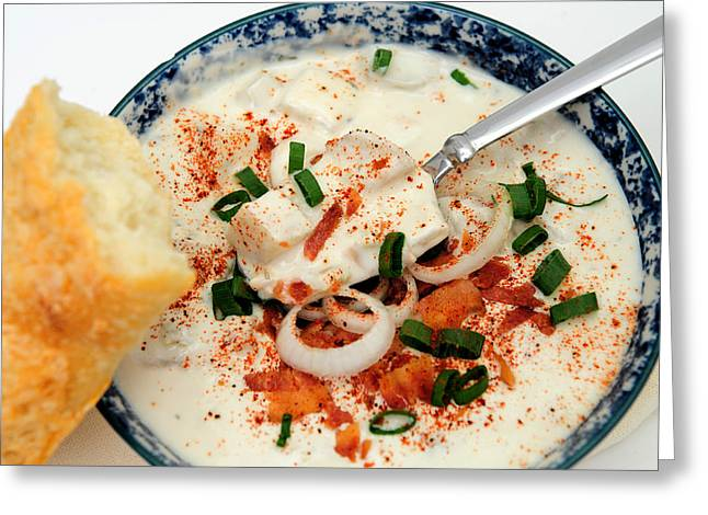 Clam Chowder Greeting Cards - Clam Chowder Greeting Card by Don Bendickson