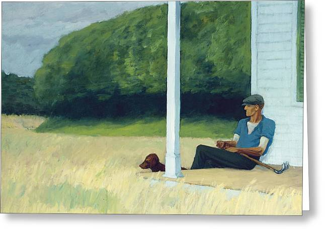 Spade Greeting Cards - Clamdigger Greeting Card by Edward Hopper