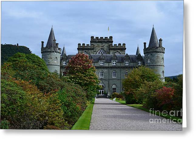 Campbell Clan Greeting Cards - Clan Campbell Inveraray Castle Greeting Card by DejaVu Designs