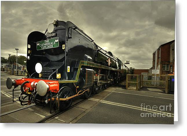 Exeter Greeting Cards - Clan Line at Exeter St Davids Greeting Card by Rob Hawkins