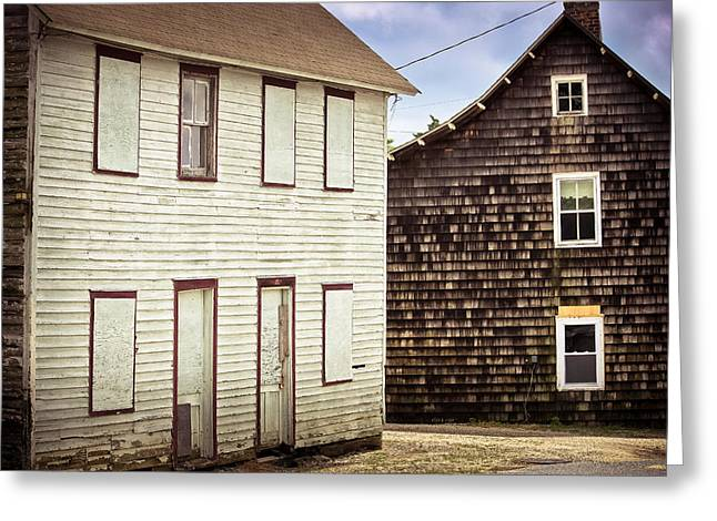 Clapboard House Greeting Cards - Clapboard and Cedar Shake Greeting Card by Colleen Kammerer