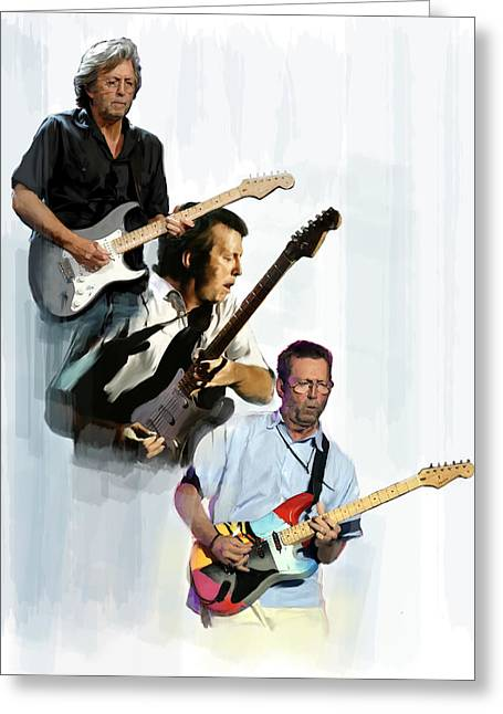 Best Sellers -  - Rocks Drawings Greeting Cards - Clapton Eric Clapton Greeting Card by Iconic Images Art Gallery David Pucciarelli
