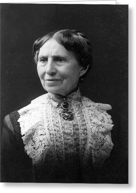 Photography Of Woman Greeting Cards - Clara Barton Greeting Card by E. Purdy