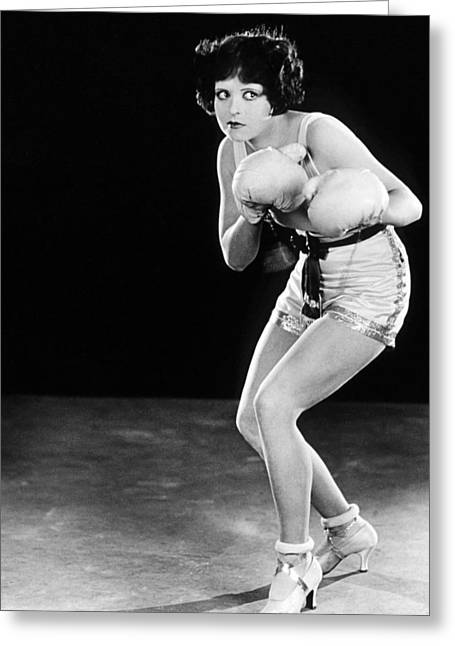 Rough Greeting Cards - Clara Bow in Rough House Rosie  Greeting Card by Silver Screen