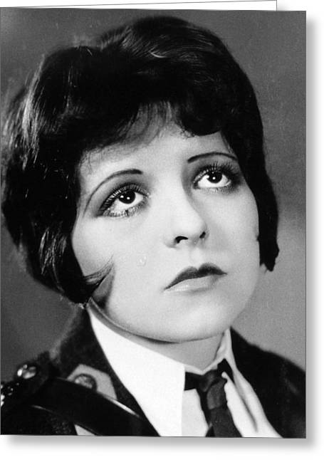 Winged Greeting Cards - Clara Bow in Wings  Greeting Card by Silver Screen