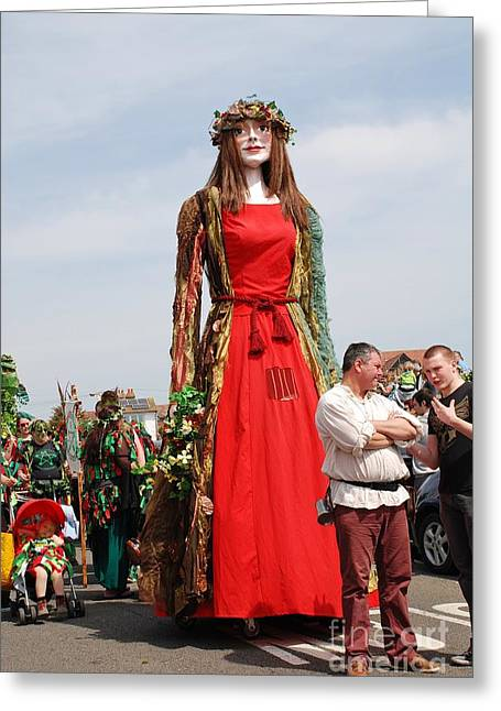 Gathering Greeting Cards - Flora the Singleton Giant Greeting Card by David Fowler
