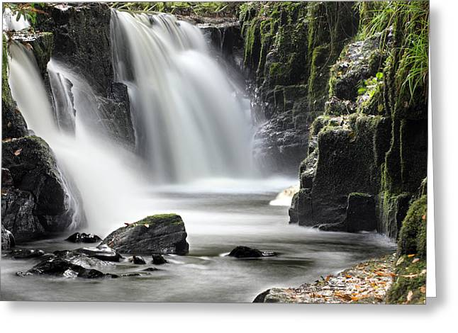 Clare Greeting Cards - Clare Glens waterfall Limerick Ireland Greeting Card by Pierre Leclerc Photography
