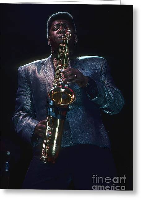 E-street Band Greeting Cards - Clarence Clemons of The E Street Band Greeting Card by Rich Fuscia