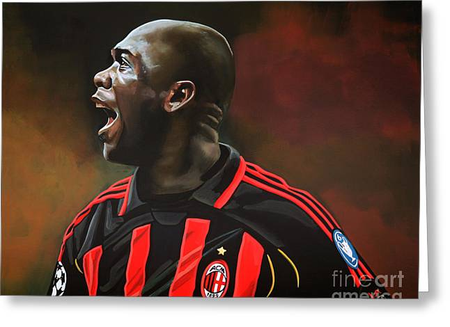 Trainer Greeting Cards - Clarence Seedorf Greeting Card by Paul Meijering