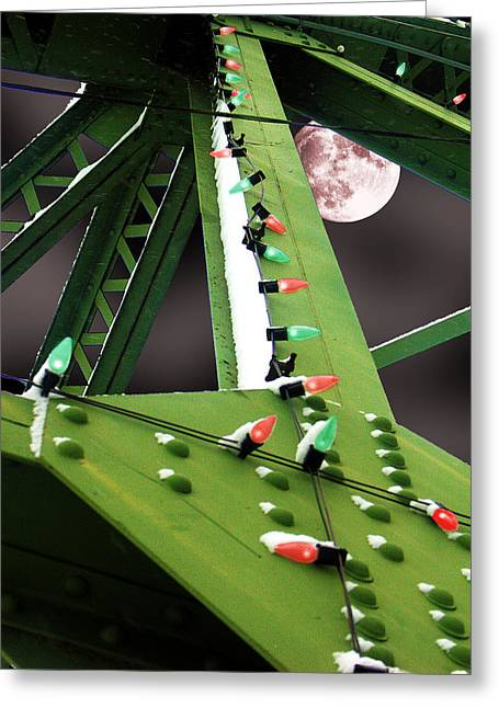 Clarence's Bridge Greeting Card by Tom Romeo