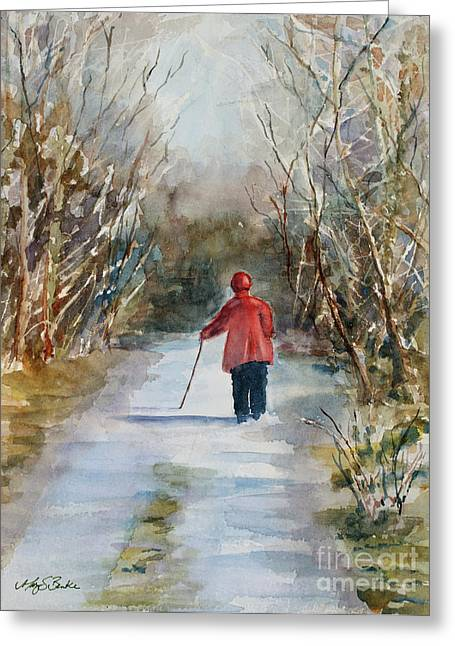 Loveland Artist Greeting Cards - Clares Lane Greeting Card by Mary Benke