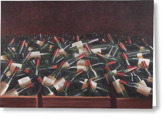 Claret Tasting Greeting Card by Lincoln Seligman