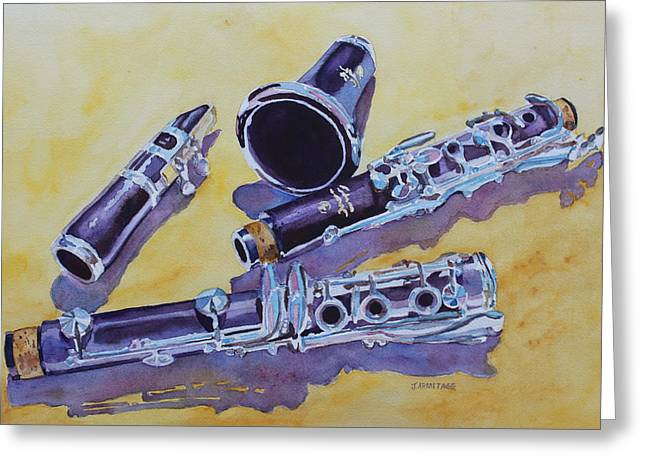 Clarinet Candy Greeting Card by Jenny Armitage