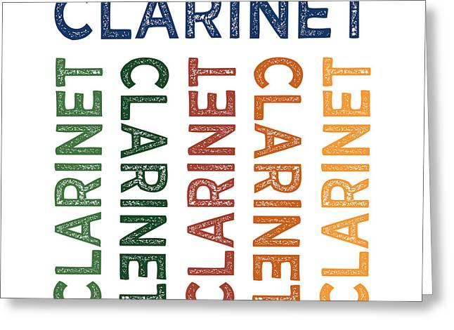 Clarinet Cute Colorful Greeting Card by Flo Karp