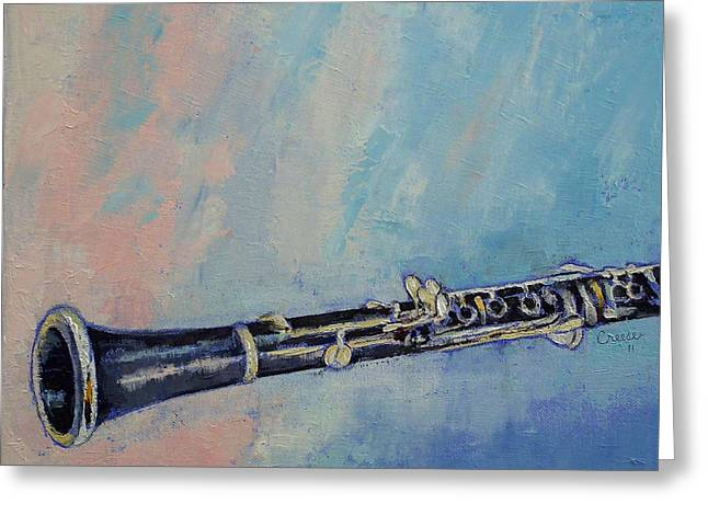 Musica Greeting Cards - Clarinet Greeting Card by Michael Creese