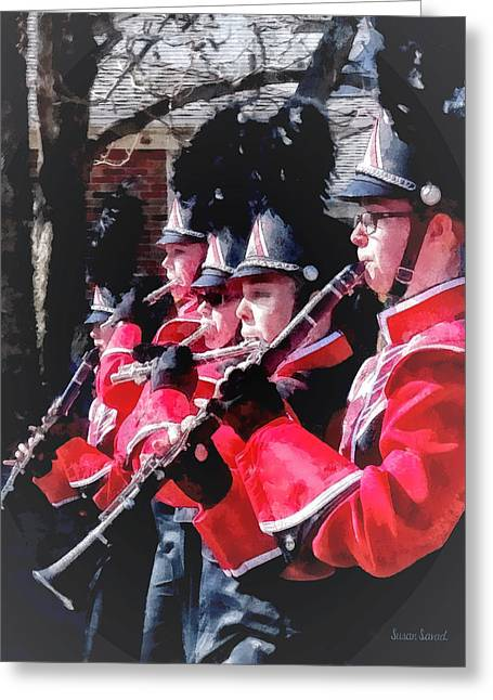 Bands Greeting Cards - Clarinets and Flutes in the Parade Greeting Card by Susan Savad
