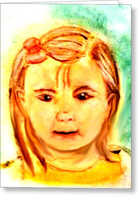 Photoshop Pastels Greeting Cards - Clarissa Greeting Card by Melissa Osborne