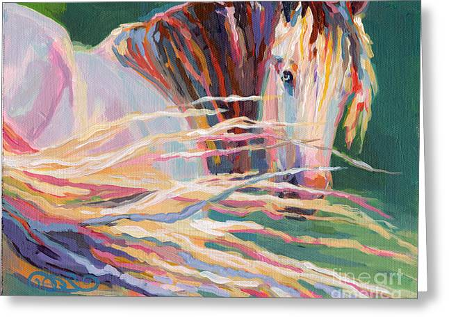 Gypsy Vanner Horse Greeting Cards - Clarisse Greeting Card by Kimberly Santini