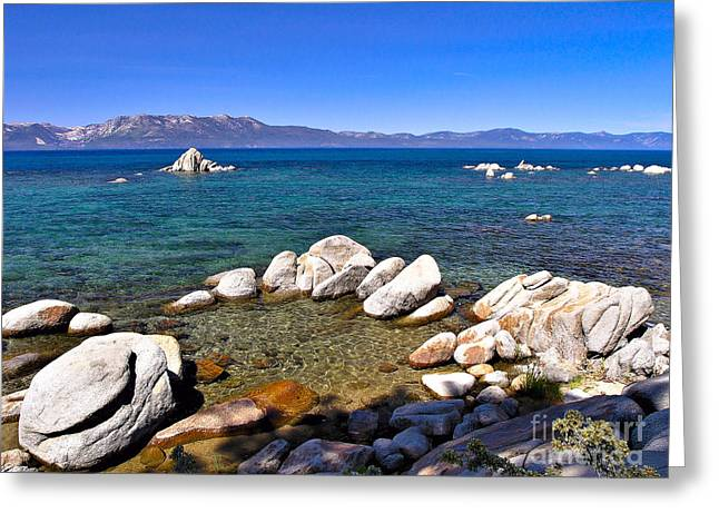 California Art Greeting Cards - Clarity - Lake Tahoe Greeting Card by John Waclo